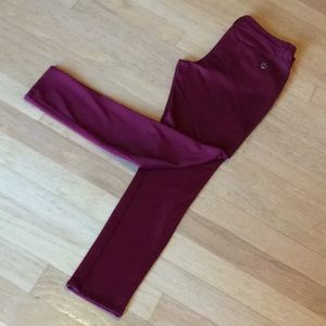 Michael Kors burgundy knit dress jeans